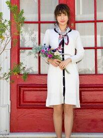 【SALE/43%OFF】Fabulous Angela 配色パイピングカーデワンピース ファビュラスアンジェラ ワンピース【RBA_S】【RBA_E】【送料無料】