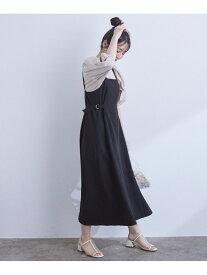 ViS サイドバックルジャンパースカート ビス スカート ジャンパースカート ブラック ベージュ【送料無料】