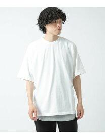 【SALE/50%OFF】ITEMS ビッグTシャツ/リブタンクトップ 2セット アーバンリサーチアイテムズ カットソー Tシャツ ホワイト カーキ ブルー ブラック