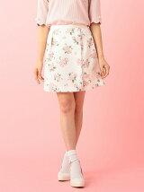 フラワーラップスカート風パンツ
