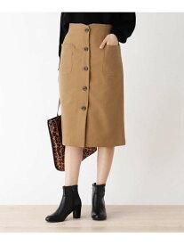 【SALE/44%OFF】SHOO・LA・RUE 【M-L/洗濯機で洗えてシワや毛玉になりにくい】LANATEC前ボタンナロースカート シューラルー スカート スカートその他 ブラウン