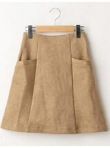 ポンチスエード台形スカート