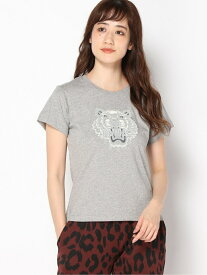 KENZO (W)Flock Tiger Small Fit Tee ケンゾー カットソー Tシャツ グレー ベージュ【送料無料】