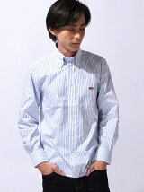 ONE POINT STRIPE OXFORD SHIRT