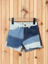 DENIM PATCH WORK SHORT PANTS