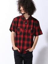 COLLARS/(M)オンブレチェック オープンカラーシャツ