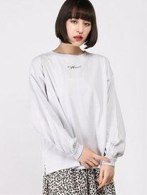 【SALE/20%OFF】WEGO WEGO/(L)ボリュームスリーブロゴロンT ウィゴー カットソー Tシャツ ブルー ピンク ベージュ ホワイト