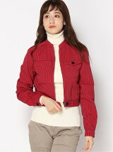 (W)Hickory Stripe Fitted Blouson