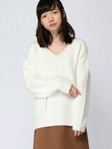 (L)VネックBIGセーター