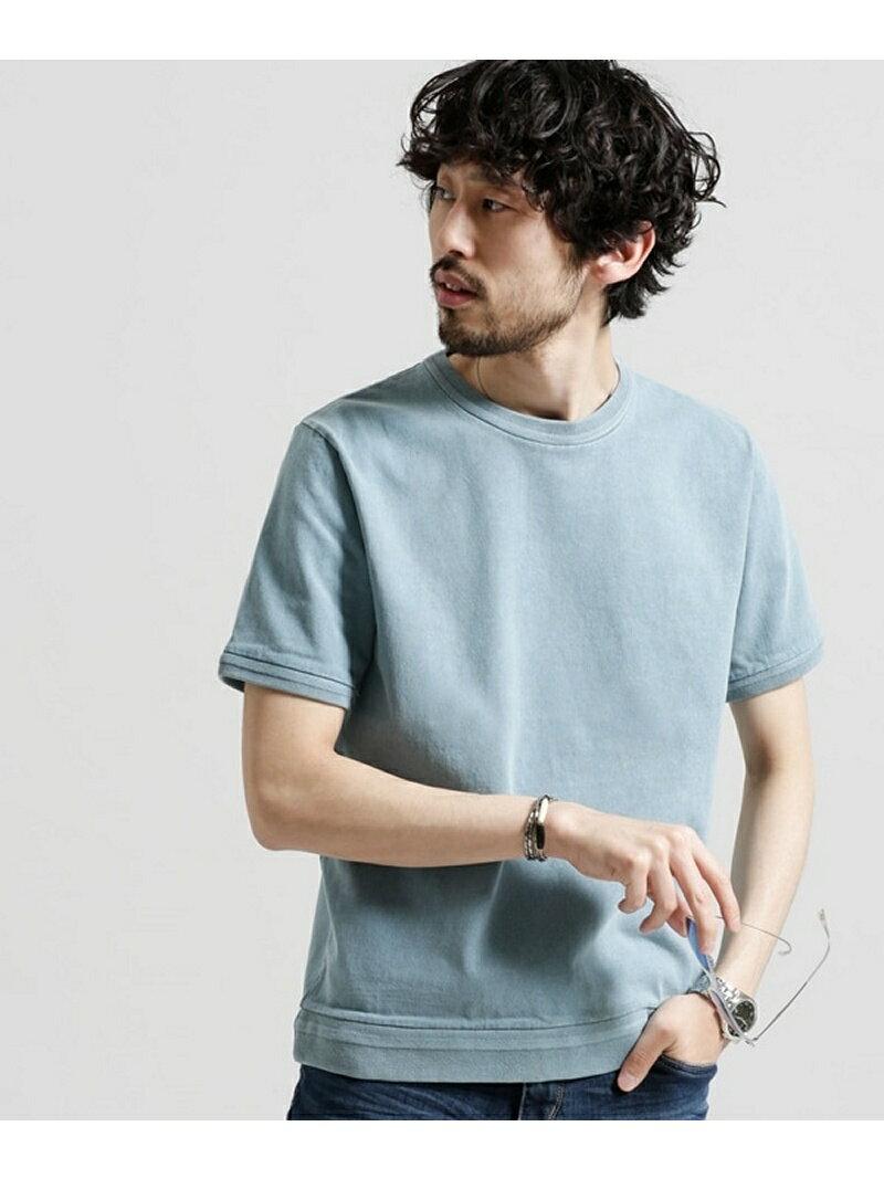 【SALE/10%OFF】度詰めピグメントTシャツ ナノユニバース カットソー【RBA_S】【RBA_E】【送料無料】