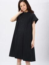 stretch broad shirt dress