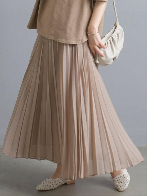 ハプティックのシフォンプリーツスカート