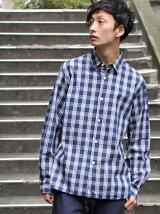 L&HARMONY/(M)チェックギャザーシャツ