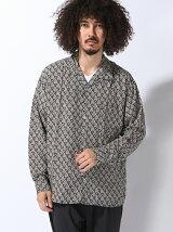 【BROWNY】(M)総柄オープンカラーシャツ