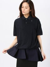 soft high gauge pique peplum polo