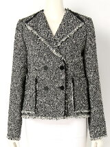 SLUB HERRINGBONE TWEED Jacket