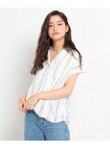 フレンチ抜き衿シャツ