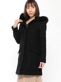 rienda Faux Fur Wool フーディーCT リエンダ コート/ジャケット コート/ジャケットその他 ブラック ネイビー グレー【送料無料】