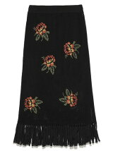 花柄メッシュニットスカート