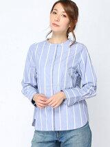 無地/STRIPE/TimyFlorals バンドカラーシャツ
