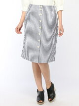 (W)ストライプスカート