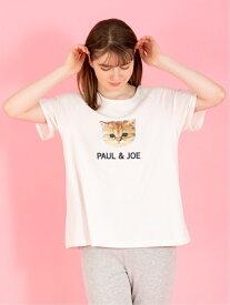 PAUL & JOE PARIS ヌネット&ロゴ Tシャツ キュートなヌネットにみつめられたい! ポールアンドジョー パリス カットソー Tシャツ ホワイト グレー ピンク【送料無料】