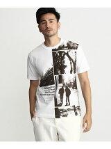 総柄フォトプリントTシャツ