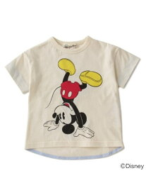 【SALE/50%OFF】Love&Peace&Money Dance Mickey TEE センスオブワンダー カットソー キッズカットソー ホワイト イエロー