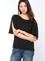 機能素材ウシロリボンTシャツ