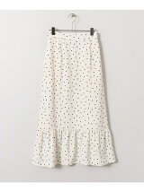 KBF+ 裾フレア切り替えドットスカート