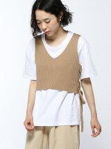 ニットタンク付Tシャツ