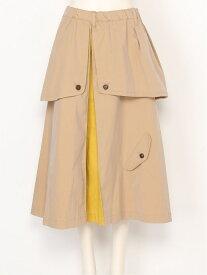 FRAPBOIS FRAPBOIS/ツインフェイス フラボア スカート スカートその他 ネイビー ベージュ【送料無料】