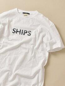 SHIPS SC: SHIPS ロゴ ペイズリー/フラワー/レオパード柄 Tシャツ シップス カットソー Tシャツ ホワイト ブラック ネイビー ブルー【送料無料】