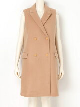 DOUBLE MELTON Sleeveless Coat
