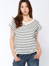 機能素材袖ギャザーTシャツ