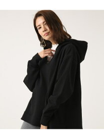 AZUL by moussy VCUTOVERHOODIE アズールバイマウジー カットソー パーカー ブラック ホワイト ブラウン【送料無料】
