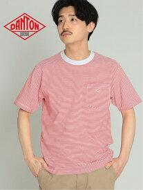 DANTON 【WEB限定】DANTON / ボーダー ポケット Tシャツ ビームス メン カットソー Tシャツ レッド【送料無料】