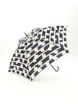 フラワーボーダー柄 長傘