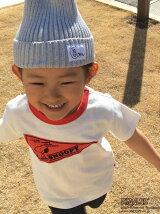 【coen キッズ / ジュニア】(SNOOPY/スヌーピー)USAコットンペナントリンガーTシャツ (100〜150cm)