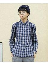 L&HARMONY/(W)チェックギャザーシャツ