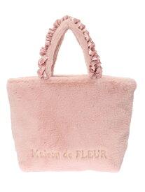 Maison de FLEUR ファーフリルハンドルトートバッグ メゾン ド フルール バッグ トートバッグ ピンク ベージュ【送料無料】