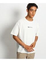 【ビッグシルエット】胸ロゴ刺繍 デニムTシャツ