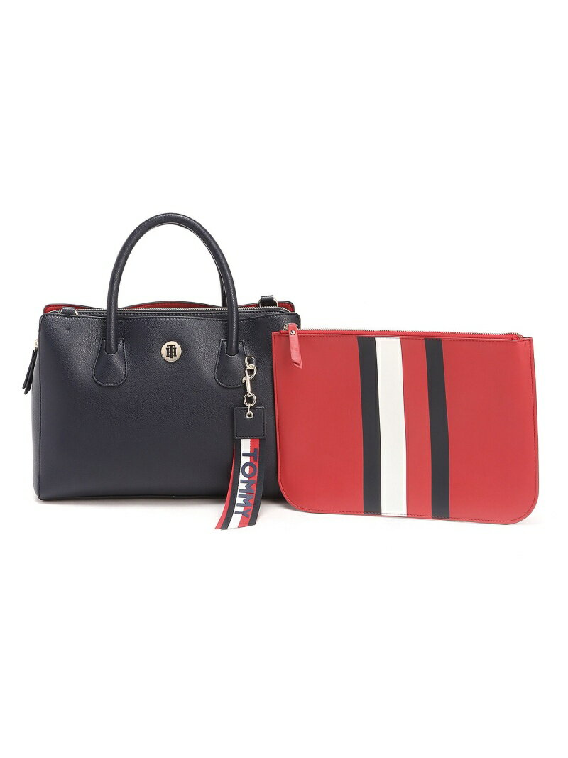 【SALE/40%OFF】TOMMY HILFIGER (W)トミーヒルフィガー【ミディアムサッチェルバッグ】 トミーヒルフィガー バッグ【RBA_S】【RBA_E】【送料無料】