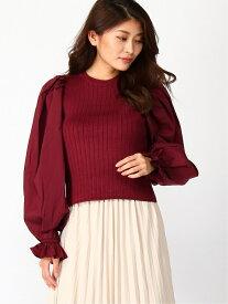 rienda Shirt SLV Combi KNIT TOP リエンダ ニット 長袖ニット ホワイト ネイビー【送料無料】