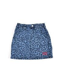 【SALE/50%OFF】ZIDDY レオパード柄デニムスカート ベベ オンライン ストア スカート ロングスカート ブルー