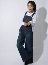 DENIM WIDE LEG SALOPETTE