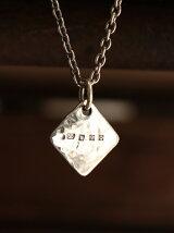【ネックレス】Hammered Diamond Hallmarks Pendant Head