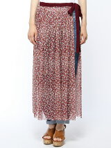 小花チュール巻きすスカート