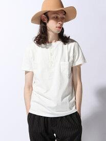 REMI RELIEF REMI RELIEF × BEAMS PLUS / 別注 ヘンリーネックTシャツ <新着> ビームス メン カットソー Tシャツ ホワイト グレー ネイビー【送料無料】