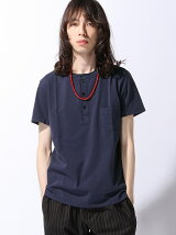 REMI RELIEF × BEAMS PLUS / 別注 ヘンリーネックTシャツ